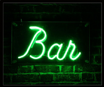 Green Bar Neon Sign